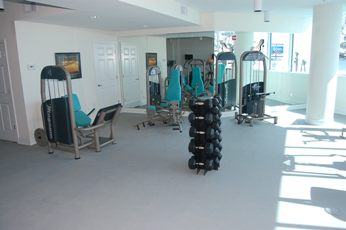 Gym at Beau View condo rental in Biloxi