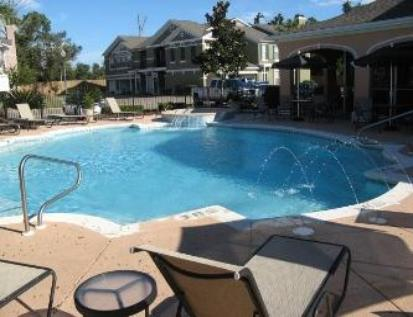 Legacy Villas pool area in Gulfport, Mississippi