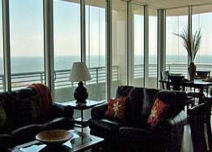 Richly appointed interiors of the Ocean Club at Biloxi vacation rental condos