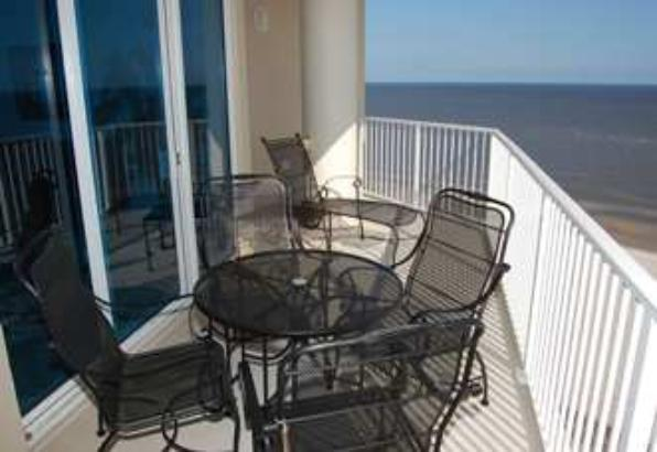 Balcony views from Beau View Biloxi beach vacation rental condo
