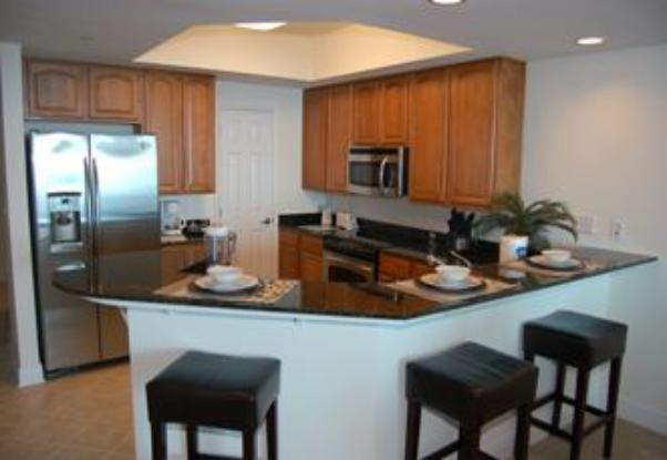 Fully stocked kitchens in Beau View condo rental
