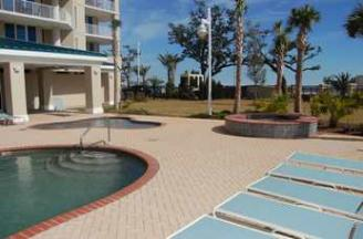 Adult pool, kiddie pool, hot tub at Beau View in Biloxi