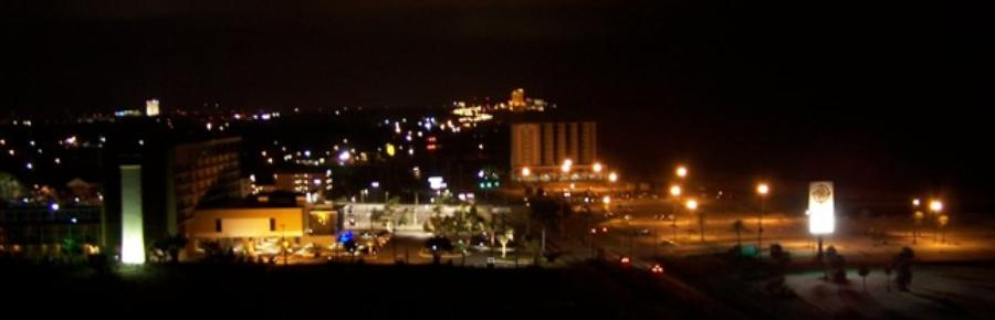 Picture of Biloxi night lights from Ocean Club vacation condo