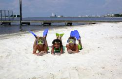 Kids doing what they do -- enjoying Biloxi Beach!